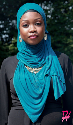 Cotton Jersey Hijab Scarf - Dark Teal