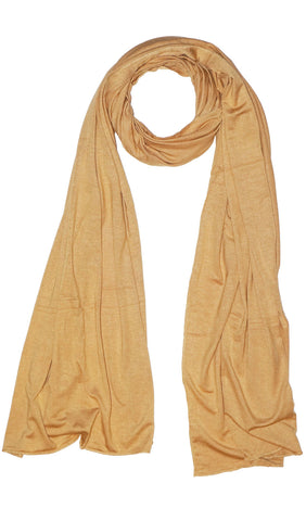 Cotton Jersey Hijab Scarf - Golden