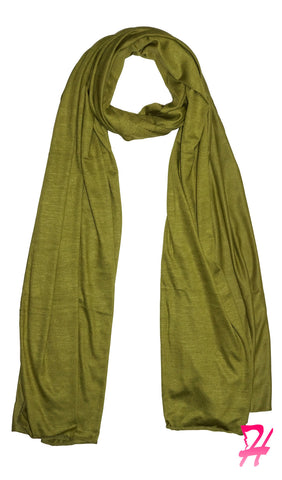 Cotton Jersey Hijab Scarf - Lemongrass
