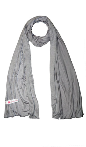 Cotton Jersey Hijab Scarf- Light Gray