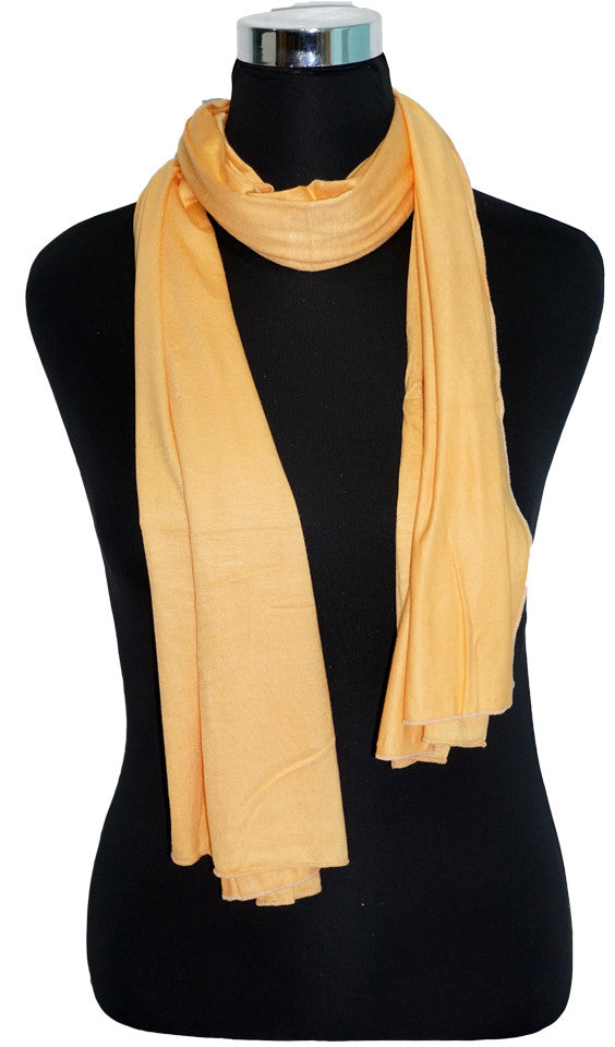 Cotton Jersey Hijab Scarf - Mango Cream