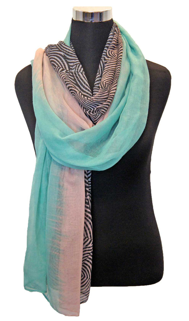 Ombre Swirl Hijab Scarf - Cotton Candy