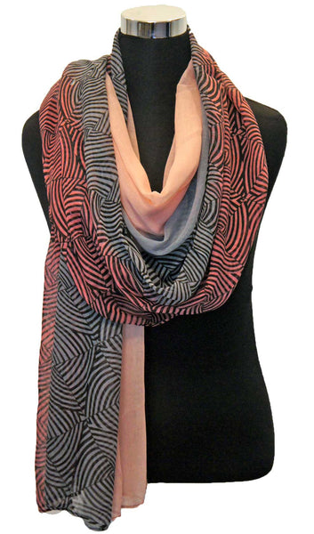 Ombre Swirl Hijab Scarf - Sunset