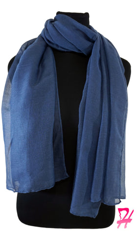 Plain Viscose Maxi Hijab - Bering Sea Blue