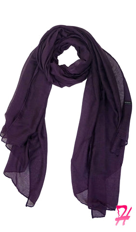 Plain Viscose Maxi Hijab - Deep Purple