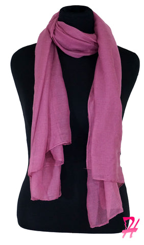 Plain Viscose Maxi Hijab - Heather Rose