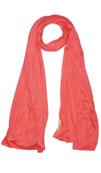 Cotton Jersey Hijab Scarf - Salmon