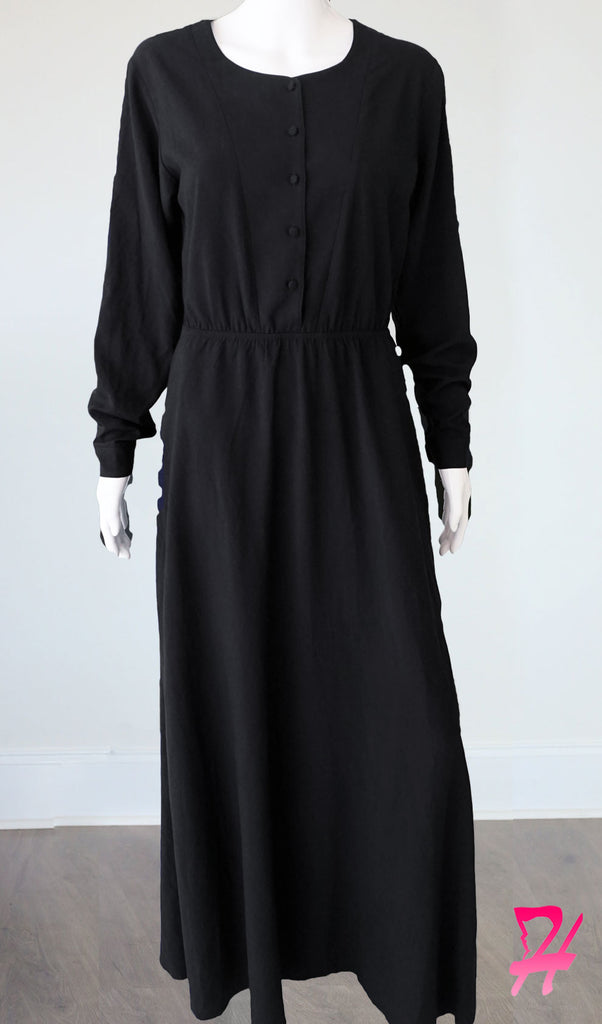 Sumaya Long Sleeve Maxi Dress - Black