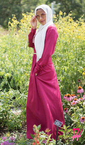 Sumaya Long Sleeve Maxi Dress - Burgundy