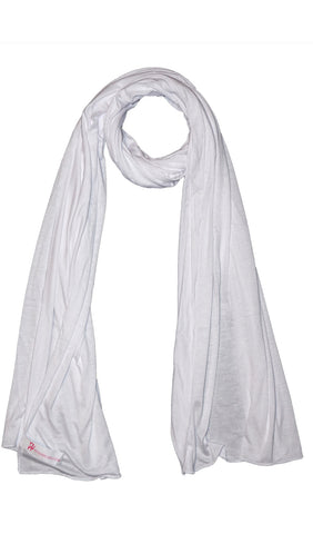 Cotton Jersey Hijab Scarf- White