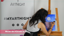 Laden Sie das Bild in den Galerie-Viewer, ArtNight Tutorial: Bunter Hirsch - inklusive ArtNight Malbox