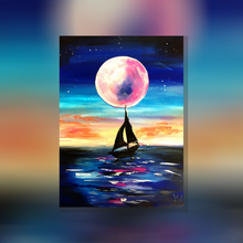 Laden Sie das Bild in den Galerie-Viewer, ArtNight Tutorial: Pink Moon - inklusive ArtNight Malbox