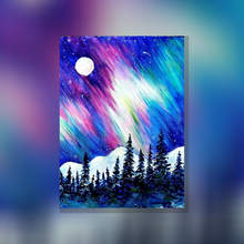 Laden Sie das Bild in den Galerie-Viewer, ArtNight Tutorial: Northern Lights - inklusive ArtNight Malbox