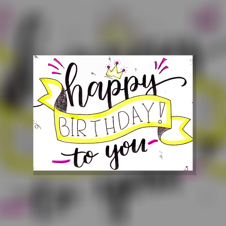 ArtNight Tutorial: Handlettering - Happy Birthday Edition