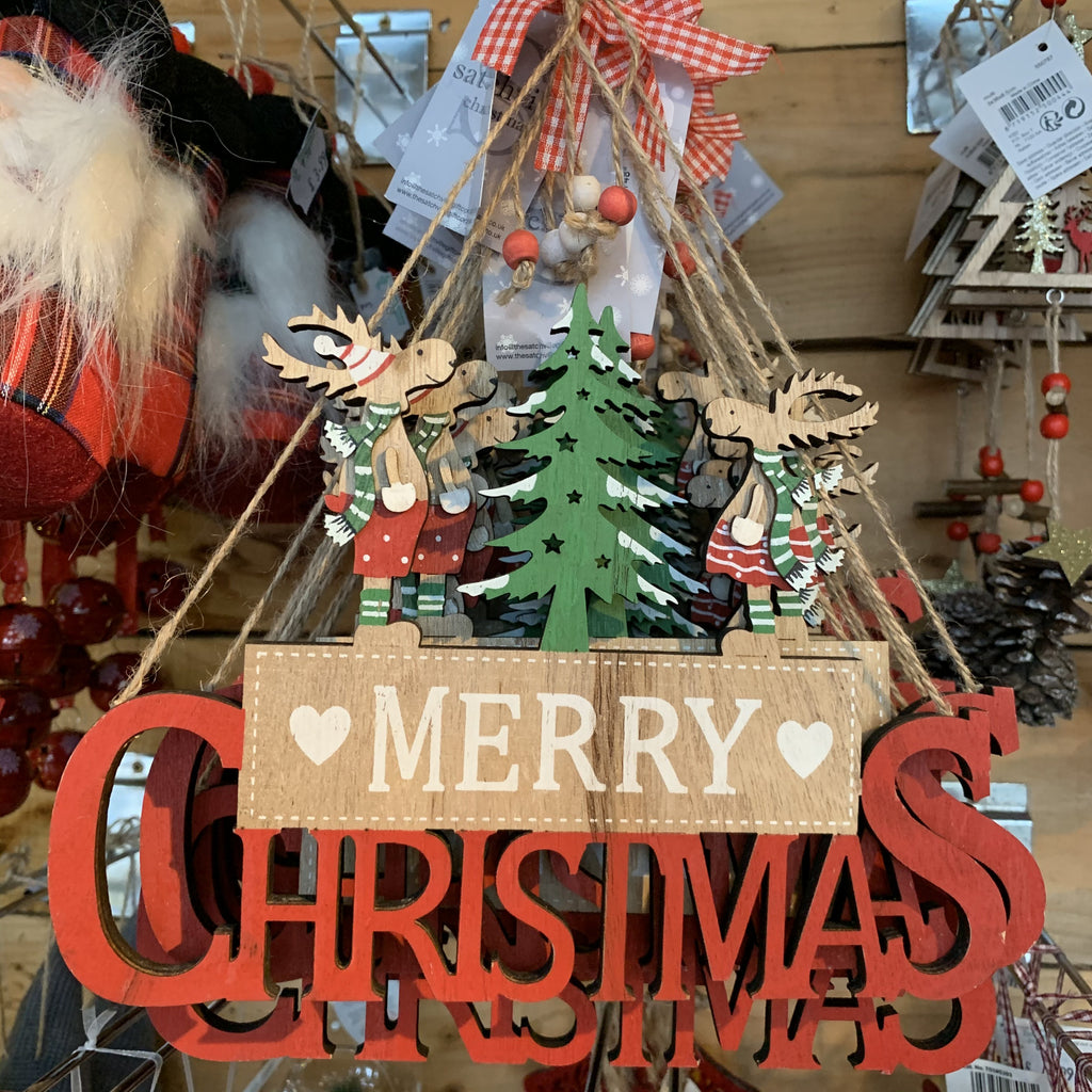 HANGING MERRY CHRISTMAS SIGN