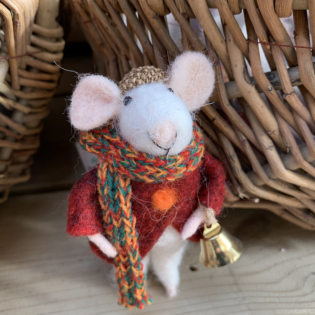 CHRISTMAS MOUSE WITH BELL