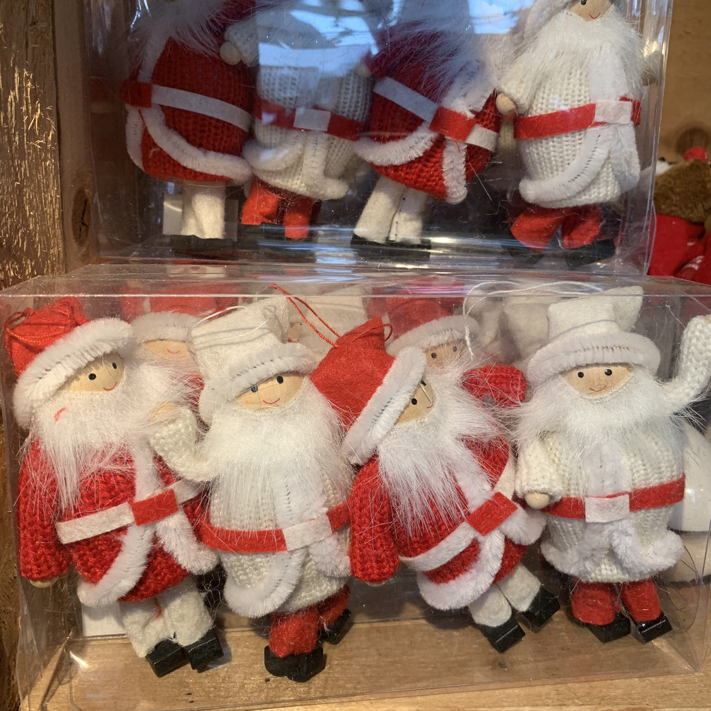 BOX OF 4 SANTA CLAUS TREE DECS