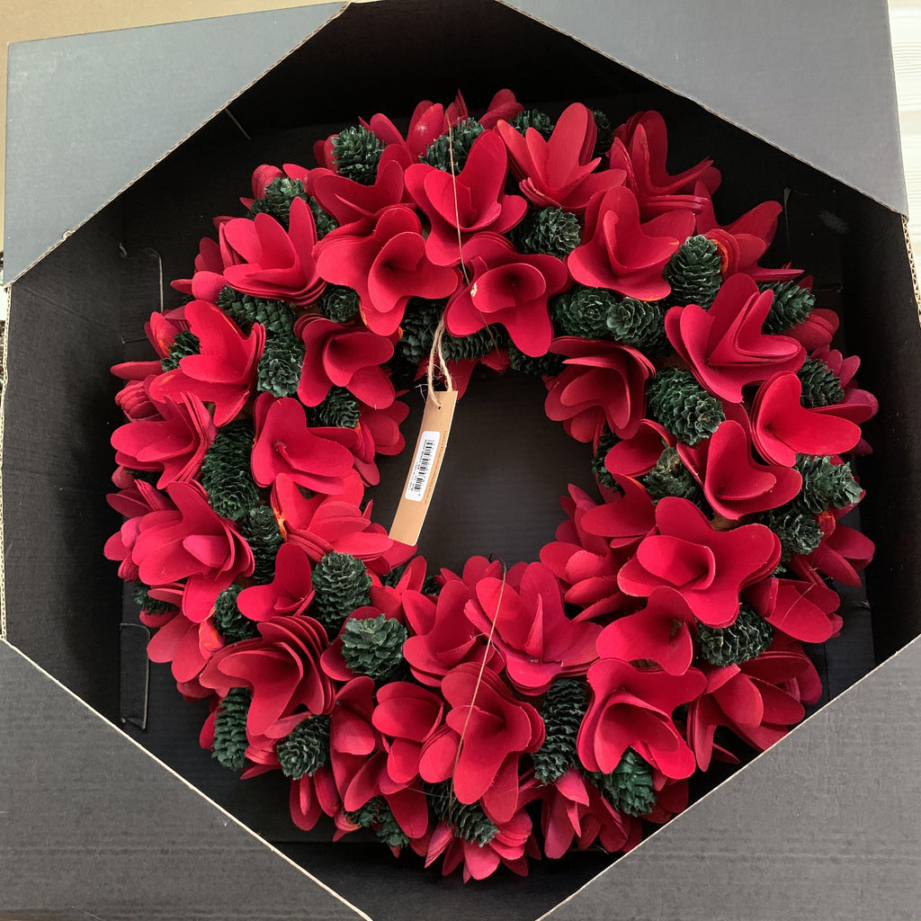 WREATH FLOWER 35CM