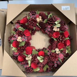 TRIPLE TWIG WREATH 38CM