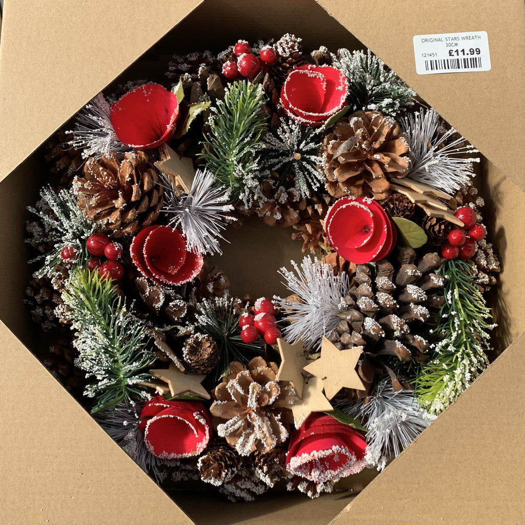 ORIGINAL STARS WREATH 30CM