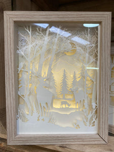 FOREST LIGHT UP BOX 23.5X18CM
