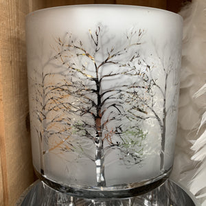 SILVER TREE T LITE HOLDER 15CM