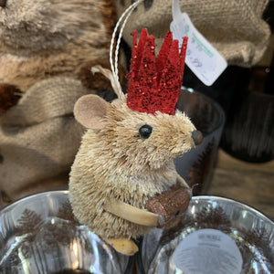 HANGING MOUSE RED CROWN