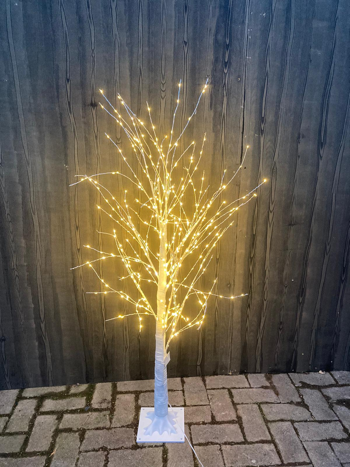 WARM WHITE WIRE TWIG TREE 500 LEDS