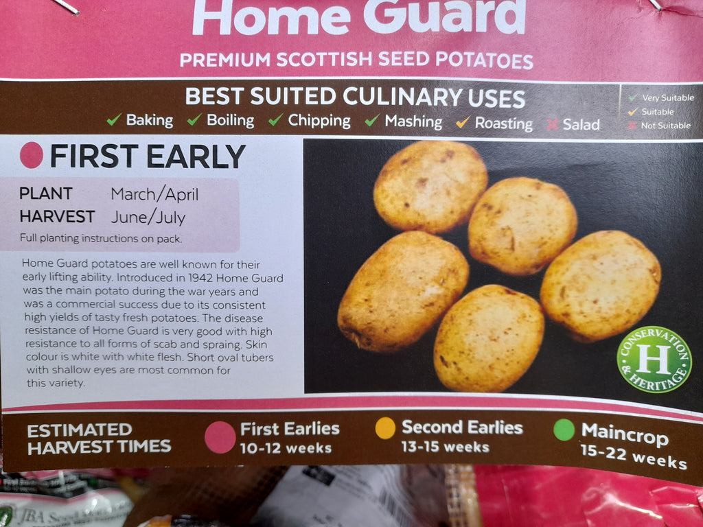 Home Guard Seed Potatoes 2kg