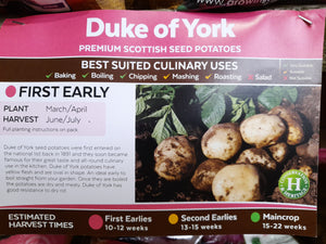 Duke of York Seed Potatoes 2kg
