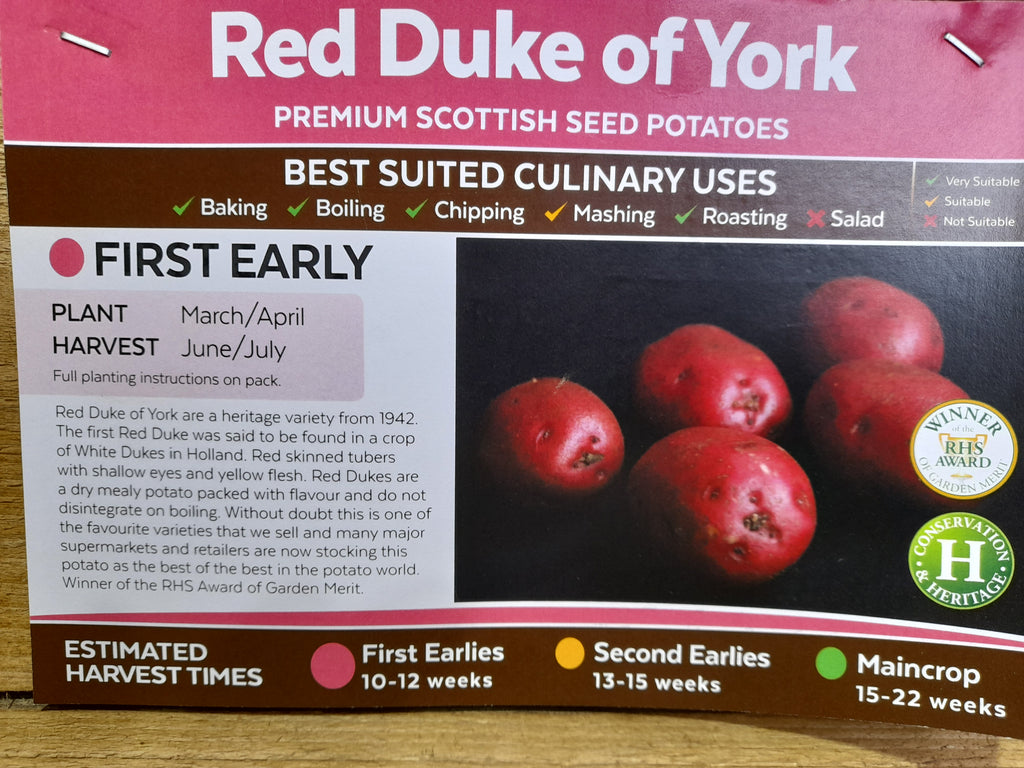 Red Duke of York Seed Potatoes 2kg