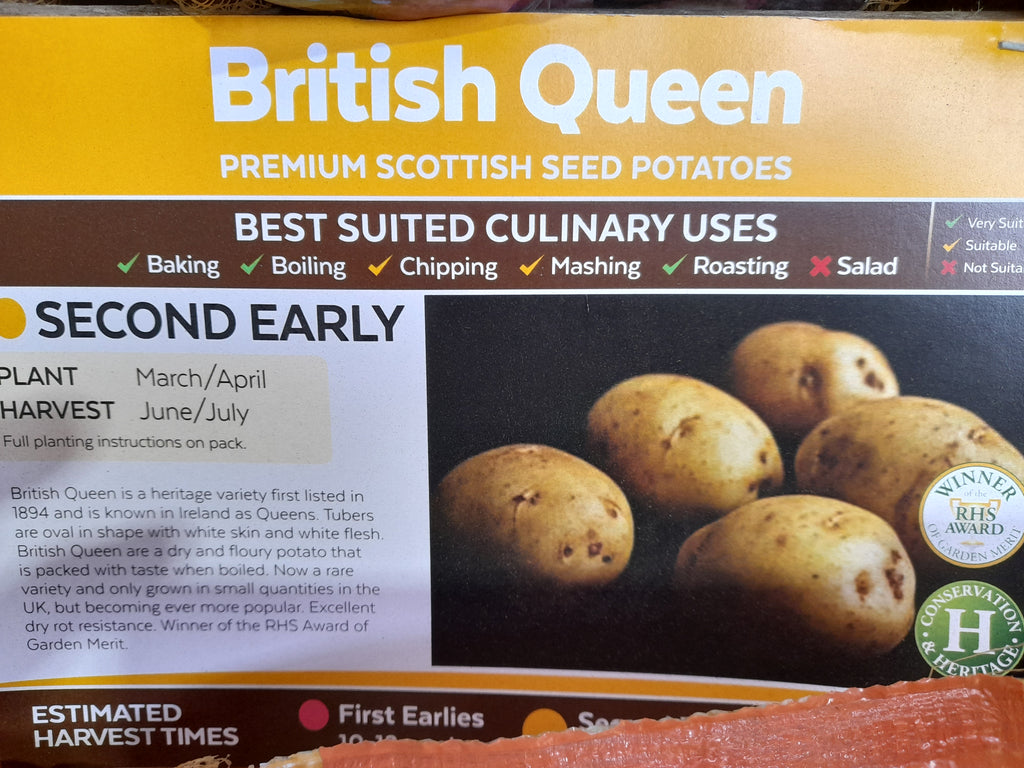 British Queen Seed Potatoes 2kg