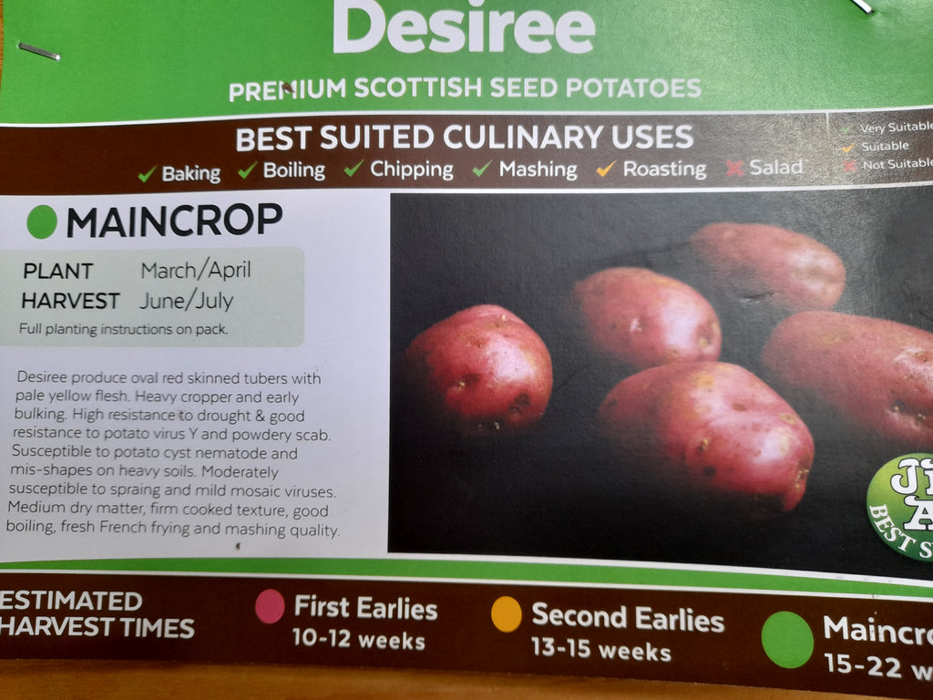 Desiree Seed Potatoes