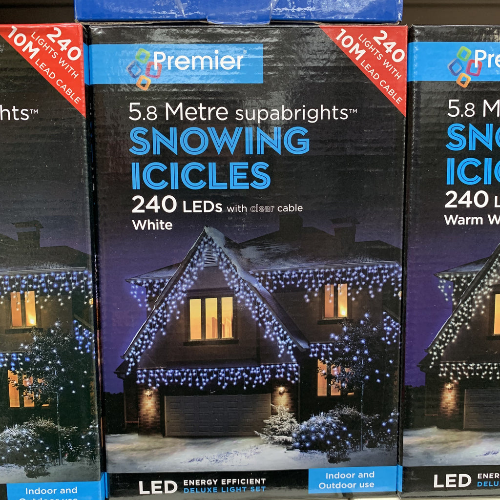 240 LED SNOWING ICICLES WHITE
