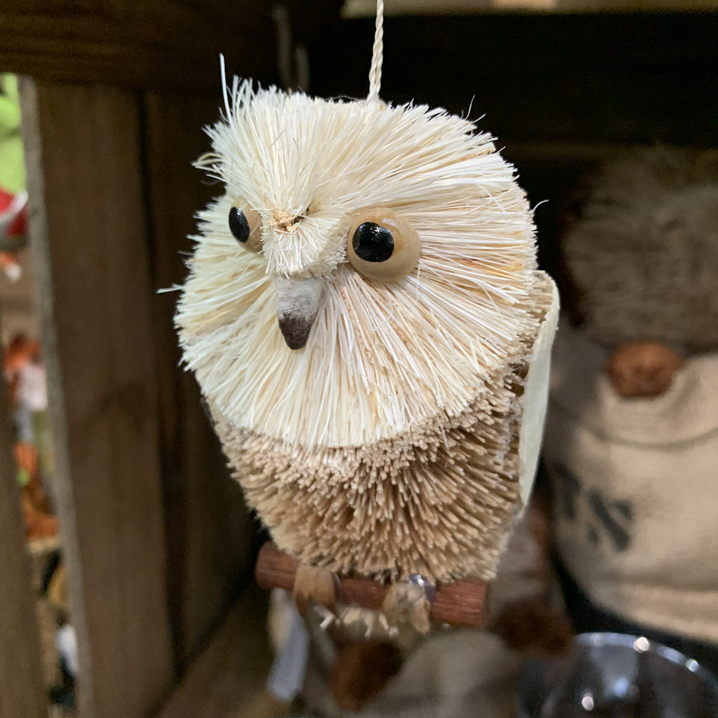 HANGING OWL ON PERCH
