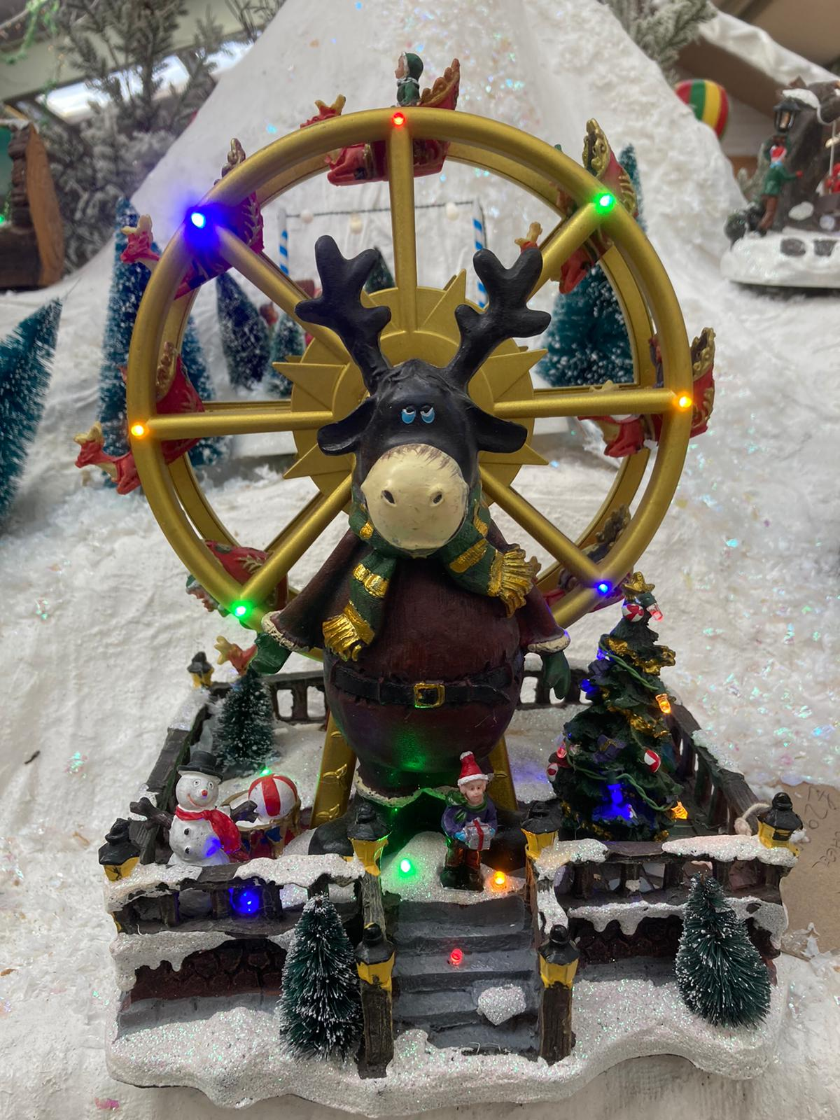 BATTERY OPERATED BIG WHEEL XMAS SCENE
