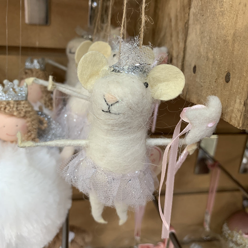 FAIRY MOUSE WITH SKIRT HANGING DECORATION