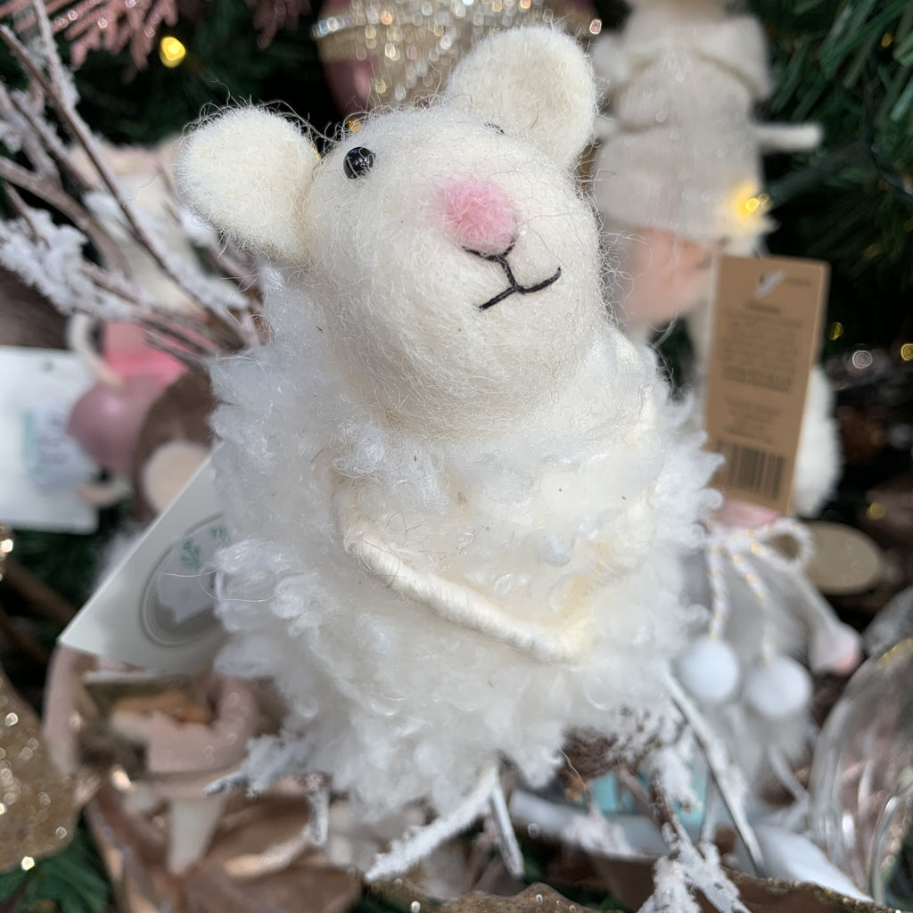 WOOL MOUSE WITH WOOLLY COAT