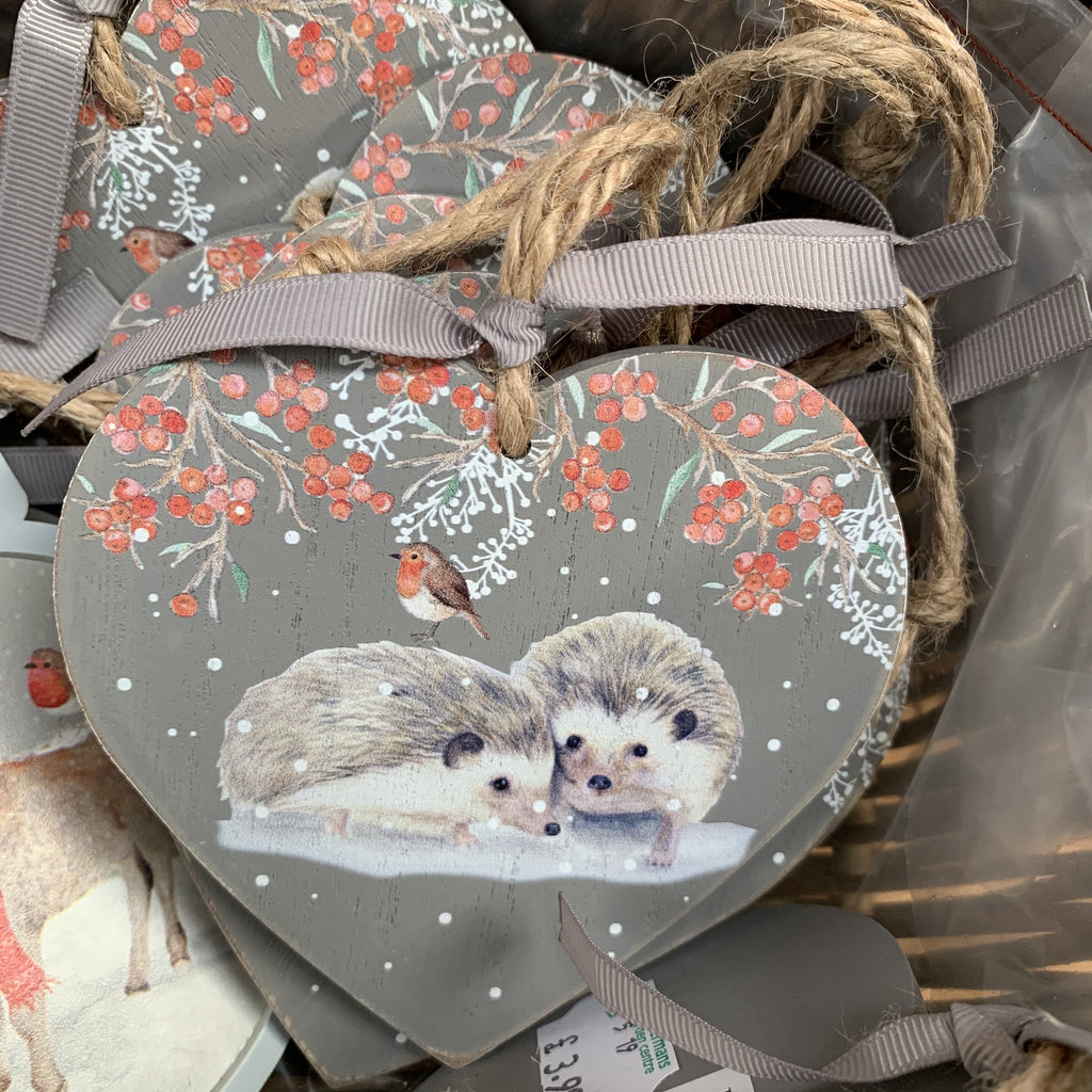 HEDGEHOG HEART PLAQUE