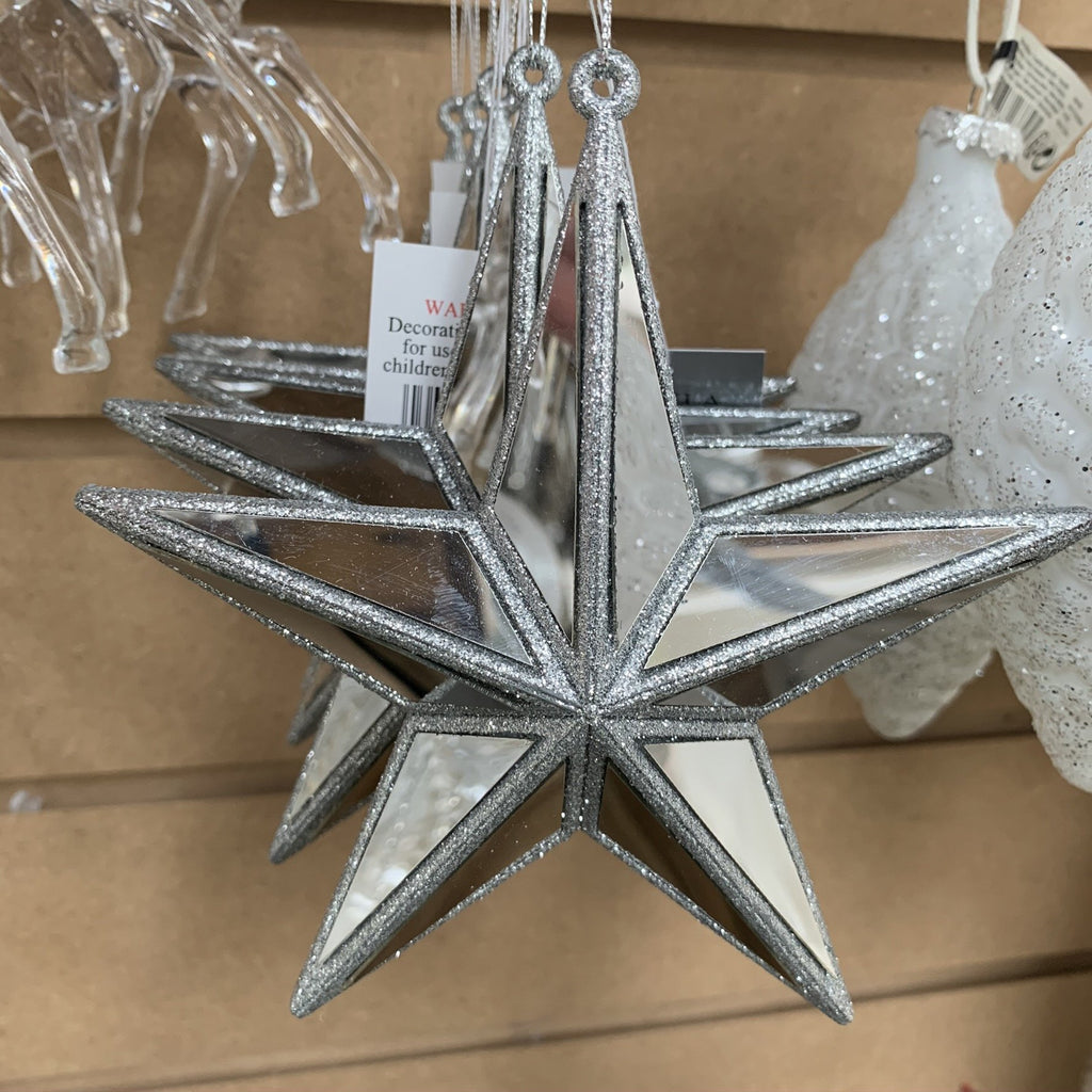 SILVER MIRROR STAR DEC