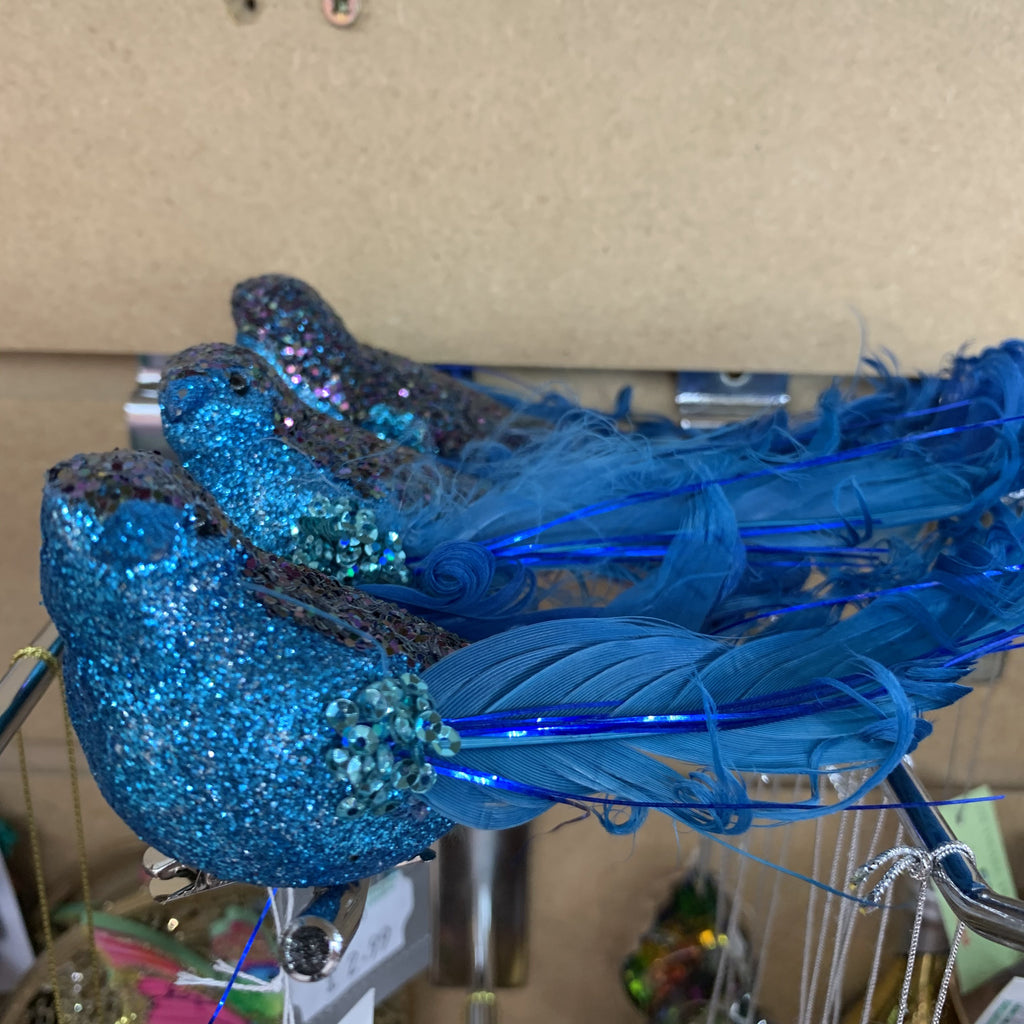 BLUE CURLY TAIL BIRD CLIP