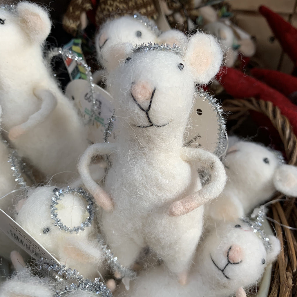 MOUSE ANGEL TREE DECORATION