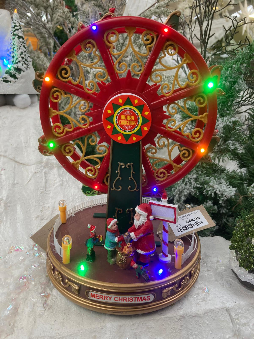 LED REVOLVING RED FERRIS WHEEL