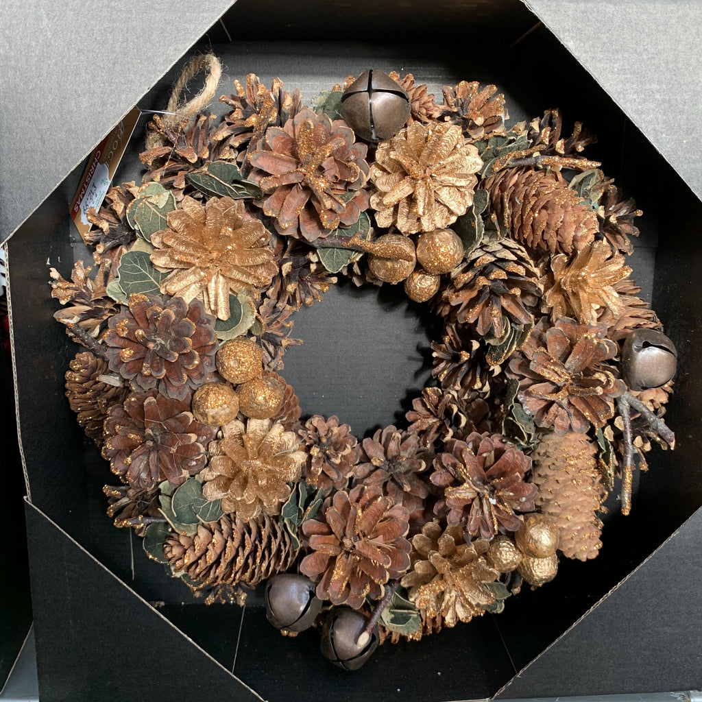 WREATH GOLDEN BERRY 30CM