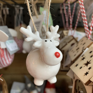 FAT REINDEER CERAMIC TREE DEC
