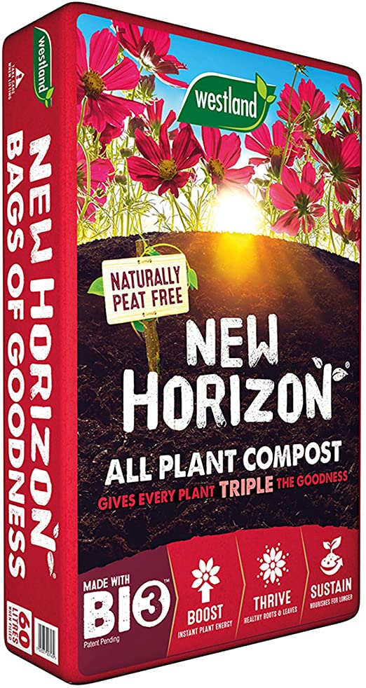 New Horizon Peat free compost 60L