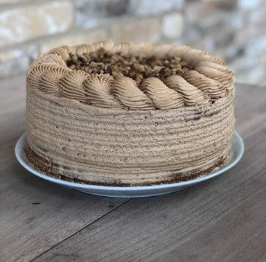 Coffee & Walnut Cake Slice