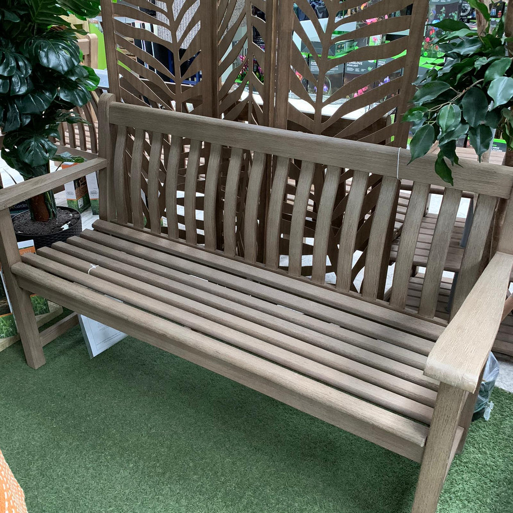 Alexander Rose Acacia Grey Broadfield Garden Bench - 4ft - Ex-Display