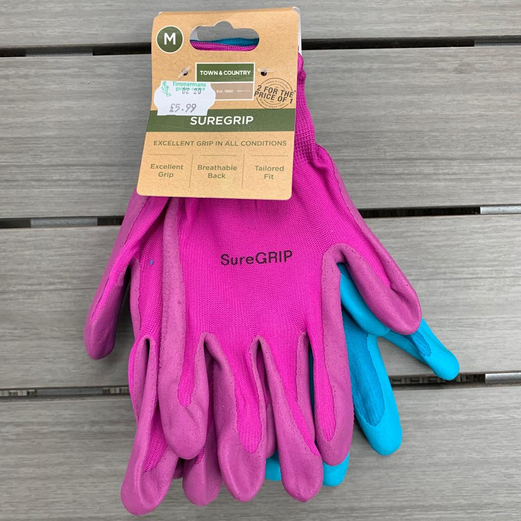 Ladies Gardening Gloves Twin Pack