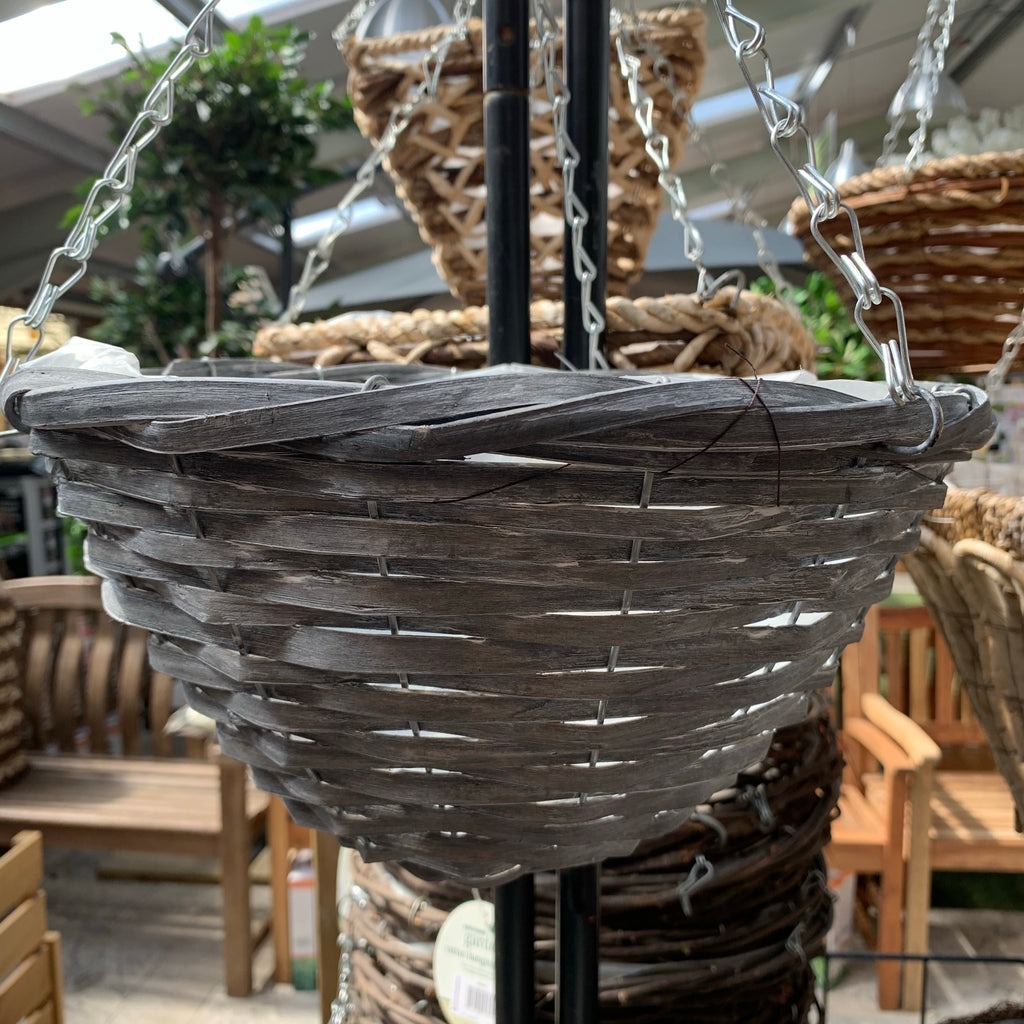 12ƒ?� Sable Willow Round Hanging Basket